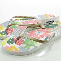 Lesportsac Womens Key West Shoes Gold Jardin Sandals Flip Flops Thong S 5/6 M Photo