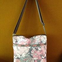 Lesportsac Womens Small Cleo Crossbody Marvelous Print Party Mix Interior Euc'11 Photo