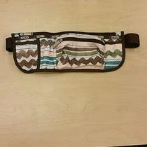 Lesportsac Zigzag Stripe Brown  & Green  Fanny Pack Waist Belt  Bag  Photo