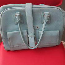 Levenger Tiffany Blue/aqua Handbag/tote for Laptops Ipads Etc Photo