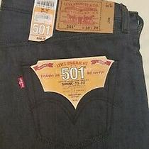 Levi 501 Jeans 38x30 Blue Ridgid Denim Shrink to Fit Straight Leg. Photo