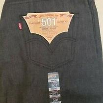 Levi 501 Jeans 38x32 Blue Denim Shrink to Fit Straight Leg Photo
