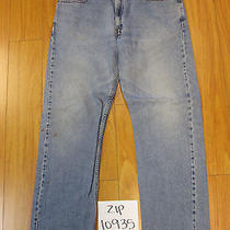 Levi 505 Regular Fit Grunge Jean Tag 38x32 Meas 35x30.5 Zip10935 Photo