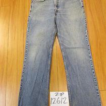Levi 517 Boot Cut Grunge Jean Tag 36x32 Meas 34x31 Zip12612 Photo
