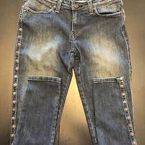 Levi 535 Womens Blue Jeans Leggings Stretch Dark Wash Embellished Size 7m Photo