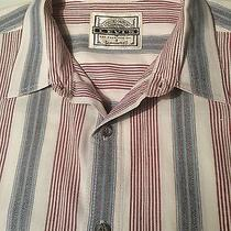 Levi Cotton Cream Wine Blue Men's Striped L Shirt Genuine Garment Guaranteed Uec Photo