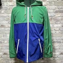 Levi Levis Green Blue Rain Coat Lightweight Jacket Classic Anorak Kagool S Photo
