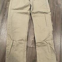 Levi Men's 505 Straight Leg Low Rise Regular Fit Jeans Khaki Tan Size W32 X L32 Photo