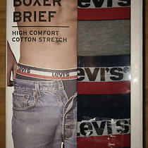 Levi's 3 Pack Mens Boxer Briefs High Comfort Cotton Stretch Size M Photo