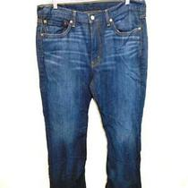 Levi's 36 X 32 514 Blue Jeans Slim Straight Leg Cotton Denim Mens 36w 32l Photo