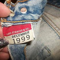 Levi's 501 Denim Jeans 29/34 Straight Leg Riveted December 1999 28/25 Measured  Photo