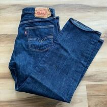 Levi's 501 Xx Button Fly Men's Dark Denim Blue Jeans Size 34 X 28 (36x30 Tag) Photo
