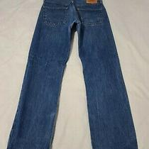 Levi's 501xx Button Fly Blue Jeans Mens Actual Size 34 X 33 - M6052 Photo