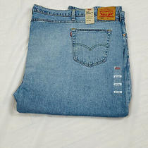 Levis 502 Regular Taper Jeans Sz 66 X 28 Light Blue Denim Big & Tall New Photo