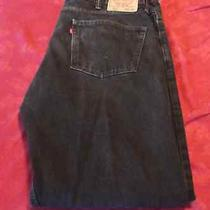 Levi's 505 Regular Fit Straight Leg Black Jeans Size 38 X 32 (Actual W39 X L32) Photo
