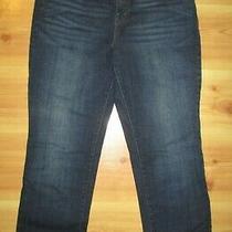 Levi's 505 Straight Leg Dark Blue Denim Button Flap Stretch Jeans Size 12 Short Photo