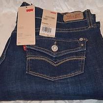 Levi's 505 Womens Jeans Straight Leg Mid Rise - Levis Levi - Dark Wash Photo