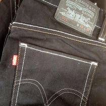 Levi's 511 Skinny Black Denim Men's 29 W X 32 L Euc Photo