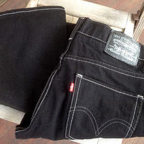 Levi's 511 Skinny Black Denim Men's 30 W X 32 L Euc Photo