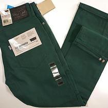 Levi's 511 Skinny Fit Commuter Jeans 34 X32-New-Dark Green-Levis Bike Pants-88- Photo