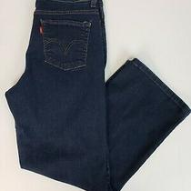 Levi's 512 Womens Jeans Size 12 Short Dark Wash Perfectly Slimming Bootcut Blue Photo