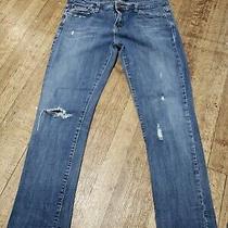 Levi's 513 Boyfriend Distressed Jeans Sz 5 Medium Photo