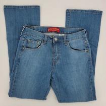 Levi's 515 Bootcut Stretch Mid Rise Denim Blue Jeans Size 4 Mis Medium Wash Photo
