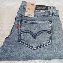 Levi's 524 Juniors Jeans Ultra Low Rise Skinny Leg - Blue & Black Photo