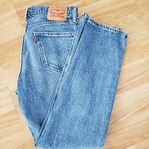 Levi's 541 Stretch Straight Fit Jeans Blue Size 30 X 32 Photo
