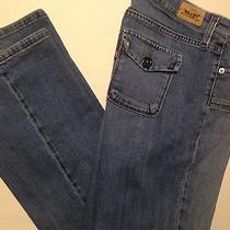 Levi's 545 Low Boot Cut Women's Medium Wash Flap Pocket Jeans  (Actual 31 X 31) Photo