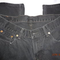 Levi's 550 Relaxed Fit Black 100% Cotton Men's 33 X 28 14 Husky Photo