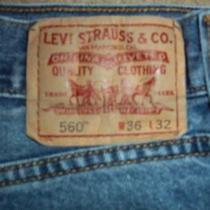 Levi's 560 Men's 36x32 Comfort Fit Blue Jeans 100% Cotton Red Tab 5-Pocket Clean Photo