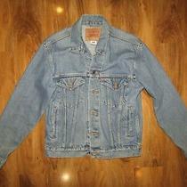 Levi's 70508 Relaxed Trucker Blue Collared Denim Jacket Uk S Oversized Photo