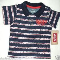 Levi's Baby Boy Striped Polo Shirt Dark Navy sz.12 Months. Nwt Photo