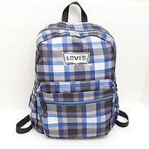Levi's Backpack Gray Blue and White Plaid. Two Straps. Photo