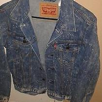 Levi's Blue Denim Paint Splatter Jacket  Xs Photo