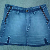 Levi's Cotton Denim Mini Skirt-S-Euc-10 Photo