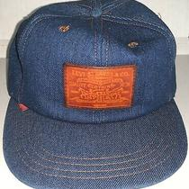 Levis Denim Hat Strapback Cap Levi Strauss Vintage Leather Patch Osfa Levis Photo