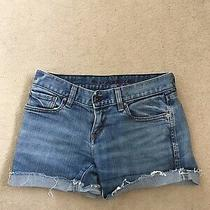 Levis Denim Shorts Blue Low Rise 99% Cotton 1% Lycra 30 Inch Waist Photo