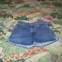 Levi's Denim Shorts Girl's 14 Slim L555 Awesome the Name They Trust Photo