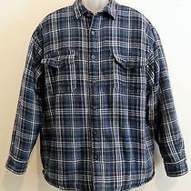 Levi's Jacket Shirt - Mens Xl - Hand Pockets - Blue Plaid - Sherpa-Like Lining Photo