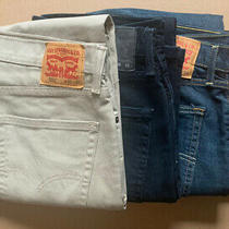 Levi's Jeans 36x32 Mens Lot 4 Pairs 502 Tan Black Blue Midnight Blue Like New Photo