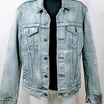Levi's Light Blue Faded Denim Jean Jacket Size S Made in Mexico /see Description Photo