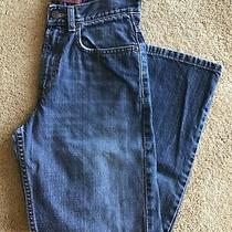 Levis Loose Straight 569 Boys Blue Jeans Dark Wash Denim Pants Sz 12 Xl L Levi Photo