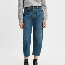 Levi's Made & Crafted Women's Barrel Cropped Jeans in Tequilla Blue  Sz 27 Nwt Photo