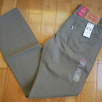 Levi's Men's 514 Straight Fit Jeans 29 X 32 New Earth Brown/ Padox Canvass Photo