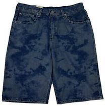 Levi's Men's 569 Jean Shorts Size 40 Blue Denim Loose Straight 12
