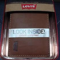 Levi's Men's Slimfold Wallet With Interior Graphic  Photo