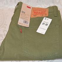 Levi's Mens 513 Slim Straight Stretch Jeans 31 X 32 Vinyard Green 0303 Nwt Photo