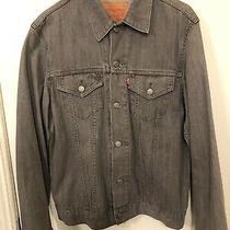 Levis Mens Gray  Denim Jacket Size L Photo